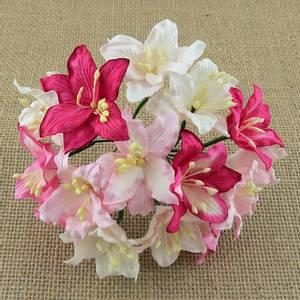 Bilde av Flowers - Lily Flowers - Large - SAA-413 - Mixed Pink & White -