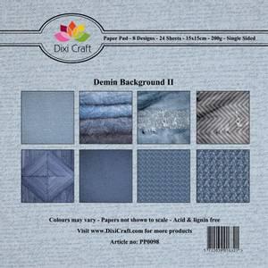 Bilde av Dixi Craft - Paper Pad 15x15 - 098 - Denim Background II