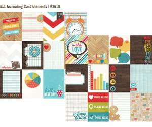 Bilde av Simple Stories - 3610 - Daily Grind - 3x4 Journaling cards