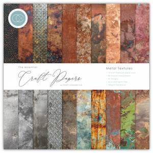 Bilde av Craft Consortium - 12x12 - Essential Paper Pad - Metal Texture