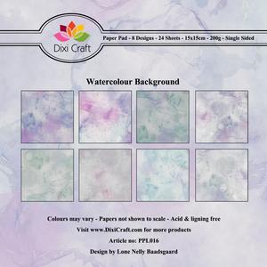 Bilde av Dixi Craft - Paper Pad 15x15 - 016 - Watercolour Background