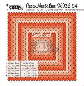 Bilde av Crealies - Crea-Nest-Lies XXL 54 - Scalloped squares