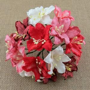 Bilde av Flowers - Lily Flowers - Large - SAA-414 - Mixed Red & White - 5