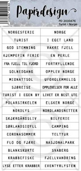 Papirdesign - Klistremerker - 2000476 - Turist i Norge