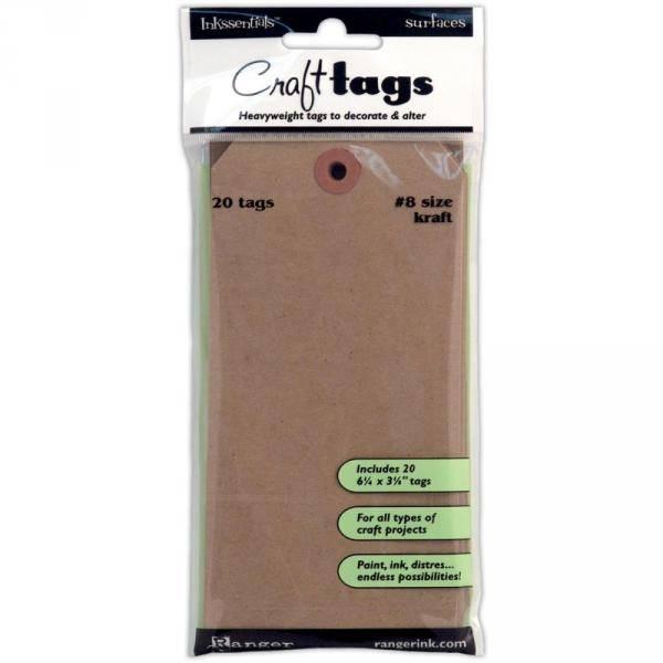 Ranger - Inkssentials - Craft Tags # 8 - Kraft 31864