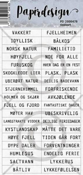 Papirdesign - Klistremerker - 2000478 - Vakkert