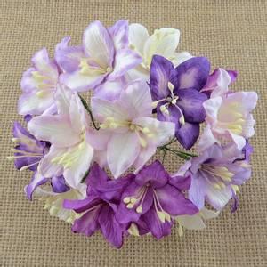 Bilde av Flowers - Lily Flowers - Large - SAA-478 - Purple/Lilac & White