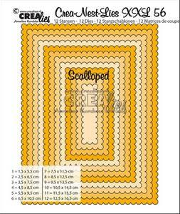Bilde av Crealies - Crea-Nest-Lies XXL 56 - Scalloped rectangles