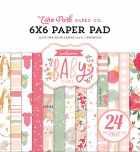Bilde av Echo Park - Welcome Baby Girl - 6x6 Paper Pad