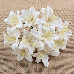 Bilde av Flowers - Lily Flowers - Large - SAA-428 - White - 50stk