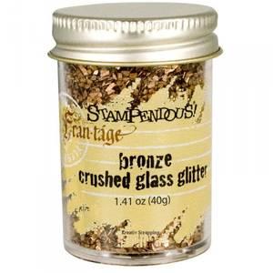Bilde av STAMPENDOUS - FRAN-TAGE - CRUSHED GLASS GLITTER - BRONZE