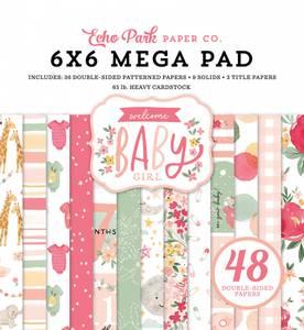 Bilde av Echo Park - Welcome Baby Girl - 6x6 Mega Paper Pad