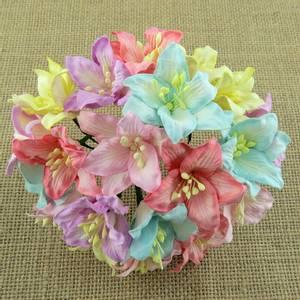 Bilde av Flowers - Lily Flowers - Large - SAA-476 - Mixed Pastel Colour -