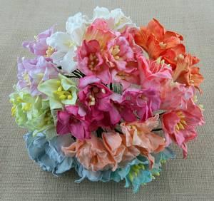 Bilde av Flowers - Lily Flowers - Large - SAA-357 - Mixed Colour - 50stk