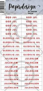Bilde av Papirdesign - Klistremerker - 1900308 - God jul
