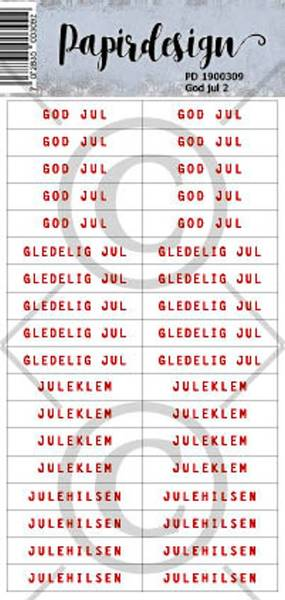 Papirdesign - Klistremerker - 1900309 - God jul 2