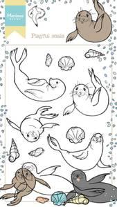Bilde av Marianne Design - HT1621 - Clearstamp - Hetty's Playful Seals