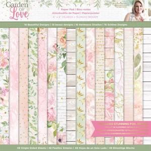 Bilde av Crafter's Companion - Paper Pad 6x6 - Garden of Love