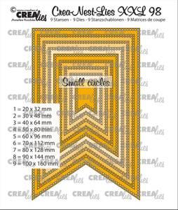 Bilde av Crealies - Crea-Nest-Lies XXL 98 - Fishtail banner small circles