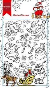 Bilde av Marianne Design - HT1624 - Clearstamp - Hetty's Santa Clauses