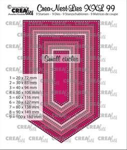 Bilde av Crealies - Crea-Nest-Lies XXL 99 - Banner with small circles