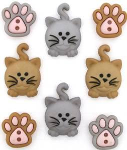 Bilde av Dress it up - Buttons - 9349 - Happy Kitties
