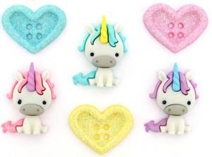 Bilde av Dress it up - Buttons - 10276 - Unicorn Love