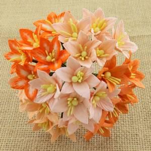 Bilde av Flowers - Lily Flowers - SAA-138 - Mixed Peach/Orange - 50stk