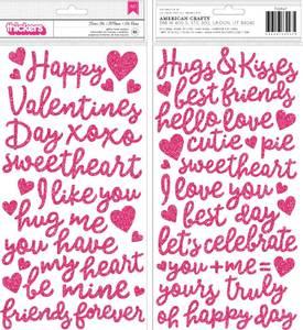 Bilde av Thickers - 733947 - Glitter Foam Phrase - Dark Pink - Loves Me