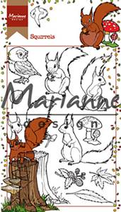Bilde av Marianne Design - HT1637 - Clearstamp - Hetty's Squirrels