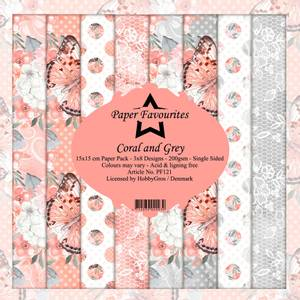 Bilde av Paper Favourites - 6x6 Paper Pad - PF121 - Coral and Grey