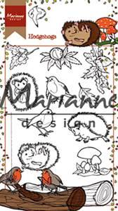Bilde av Marianne Design - HT1638 - Clearstamp - Hetty's Hedgehogs