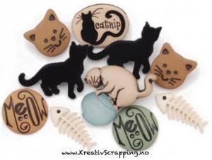 Bilde av Dress it up - Buttons - 1770 - CAT STUFF