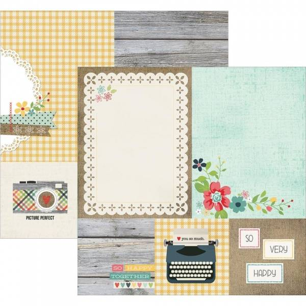 SIMPLE STORIES - 3813 - HOMESPUN - ELEMENTS 4X4 & 6X8 CARDS