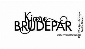 Bilde av Kort & Godt - Die 108 - Kjære Brudepar