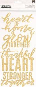 Bilde av Thickers - 733758 - Glitter Chipboard Phrase - Gold - Family