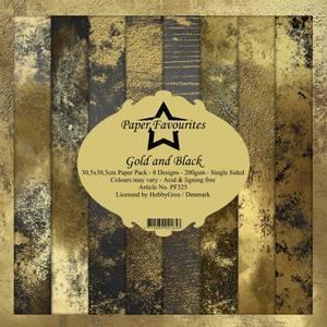 Bilde av Paper Favourites - 12x12 Paper Pack - PF325 - Gold and Black