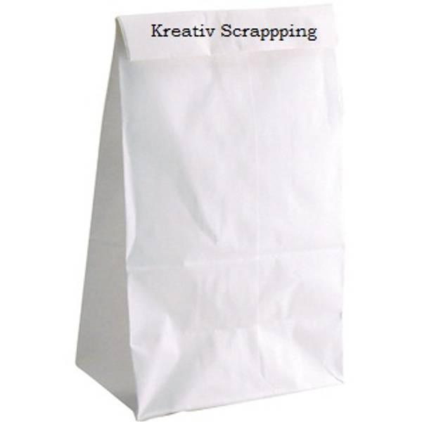 Hygloss - Papirpose med bunn - Hvit - 4.25