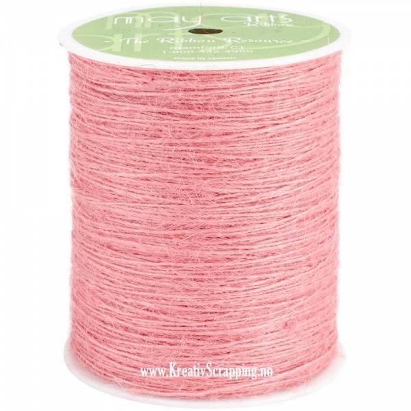 May Arts - Burlap String Jute SM17 - 1 mm - Pink - pr.meter