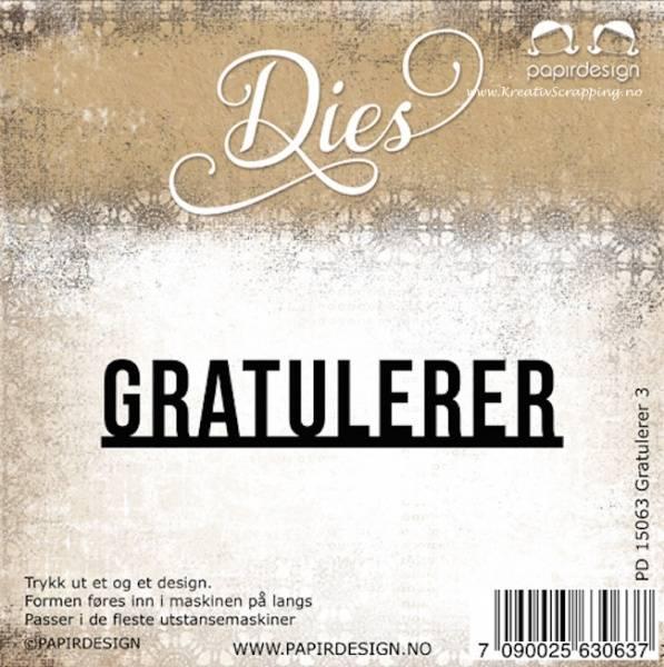Papirdesign Dies PD15063 - Gratulerer 3