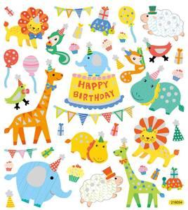 Bilde av Creotime - Stickers - 27183 - Dyreorkester m/ glitter (Bursdag)