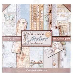 Bilde av Stamperia - 12x12 Paper Pack - 31 - Atelier