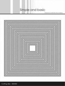 Bilde av Simple and basic - Dies - SBD002 - Double Pierced Square