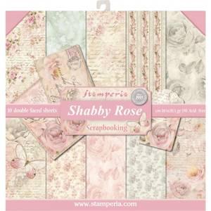 Bilde av Stamperia - 12x12 Paper Pack - 12 - Shabby Rose
