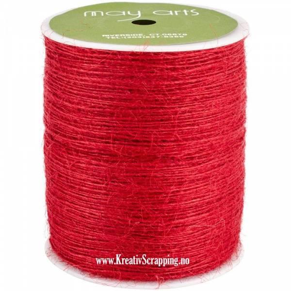 May Arts - Burlap String Jute SM14 - 1 mm - Red - pr.meter