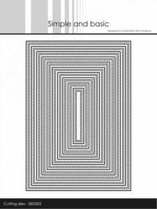 Bilde av Simple and basic - Dies - SBD003 - Double Pierced Rectangle