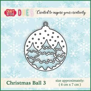 Bilde av Craft & You - Dies - CW012 - Christmas Ball 3