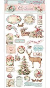 Bilde av Stamperia - Chipboard 15x30cm - 06 - Pink Christmas