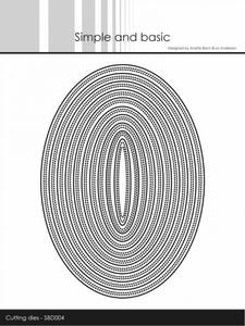 Bilde av Simple and basic - Dies - SBD004 - Double Pierced Oval