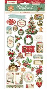 Bilde av Stamperia - Chipboard 15x30cm - 05 - Classic Christmas
